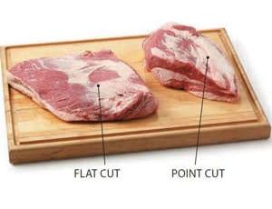 flat cut and point cut