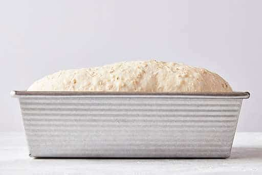 let the dough rise in the pan