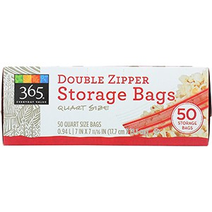 365 everyday value double zipper storage bags