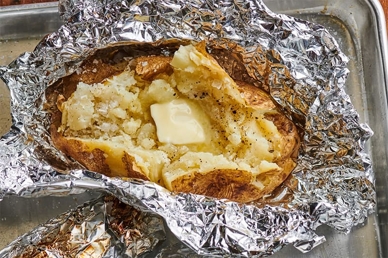 let the baked potato cool down