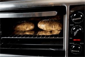 reheating baked potatoes in the oven