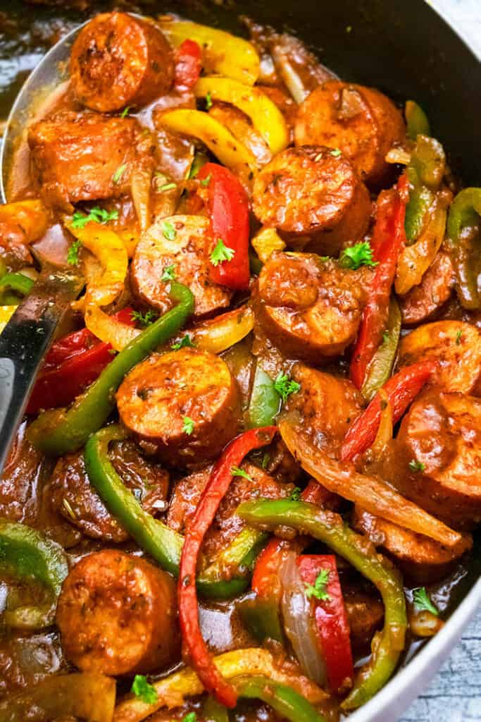slow-cooker sausage & peppers