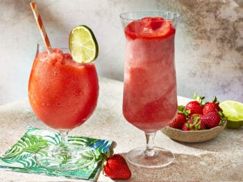 soothing rosemary strawberry daiquiri for summer parties